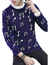 2016 new autumn and winter sweater sweater Mens Long Sleeve male music symbol Han Banchao