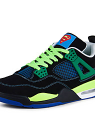Men's Sneakers Spring / Fall Comfort / Tulle Athletic Flat Heel Lace-up Black / Blue / Green / White Basketball