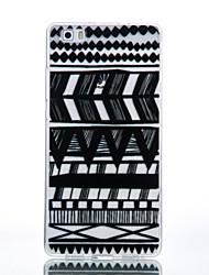 TPU Material Black Tribal Pattern Pattern Cellphone Case for Huawei P9Lite/P9/P8Lite