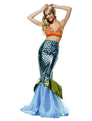 Cosplay Costumes Party Costume Mermaid Tail Fairytale Festival/Holiday Halloween Costumes Green Orange Blue Vintage Top TailHalloween