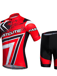 Fastcute® Cycling Jersey with Shorts Men's / Unisex Short Sleeve Bike Breathable / Quick Dry / Front Zipper / Wearable / Compression