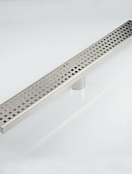 600mm Stainless Steel Nickel Bathroom Kitchen Linear Shower Square Floor Drain