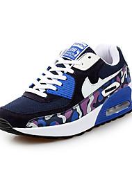 Da donna-Sneakers-Casual-Comoda-Piatto-PU (Poliuretano)-Blu / Rosso / Grigio