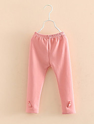 Baby Bow Leggings Fall And Winter Clothes Girls Solid Color Pants
