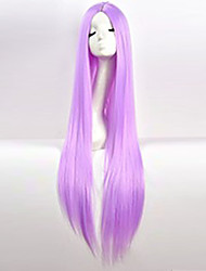 Cos Wig Light Purple in Long Straight Hair Wigs 100cm Long Wigs