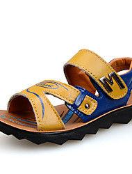 Boy's Sandals Summer Leatherette Casual Magic Tape Blue Yellow