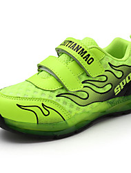 Para Meninos-Tênis-Conforto Light Up Shoes-Rasteiro-Verde Rosa-Couro Ecológico-Ar-Livre