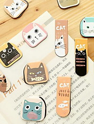 Cute Cartoon Color Magnetic Gift Mini Metal Bookmark (Random Color)