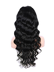 20-28 pouces perruque vague de corps sexy 1 # couleur 100% dentelle cheveux vierges humaine perruque avant
