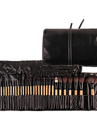 Professional 32 pcs Makeup Brushes Set For Women Fashion Soft Face Lip Eyebrow Shadow Makeup Brush Set Kit + Pouch Bag