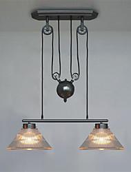 Lampe suspendue ,  Retro Rétro Peintures Fonctionnalité for Style mini MétalSalle de séjour Chambre à coucher Salle à manger Cuisine