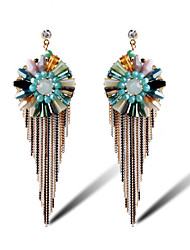 TIANSHE Women'S Europe Vintage Handmade Crystal Earrings Earring Alloy 1 pair