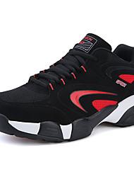 Femme-Décontracté-Bleu / Noir et rouge / Noir et blanc-Talon Plat-Confort-Sneakers-Tulle