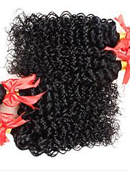 Человека ткет Волосы Бразильские волосы Kinky Curly 4 предмета волосы ткет
