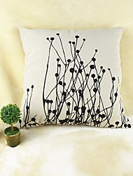 Plants Print  Cotton/Linen Pillow Cover