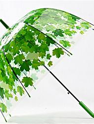 Creative Small Fresh Automatic Environmental Protection Adult Leaf Umbrella Poe Arched Mushroom Umbrella