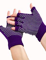 Semi Non Slip Yoga Sports Wear Resistant Cotton Dew Toe Yoga Gloves