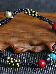 Pulseiras Pulseiras Strand Ágata Formato Circular Fashion Diário / Casual Jóias Dom Preto,1pç