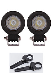 High-power 10W LED Work Light Bar Truck Parts Lamp + A pair Mount Brackets 1.5 inch