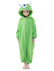 Kigurumi Pajamas New Cosplay® / Monster Leotard/Onesie Festival/Holiday Animal Sleepwear Halloween Green Solid Polar Fleece Kigurumi For