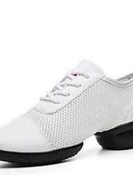 Chaussures de danse(Noir / Blanc) -Non Personnalisables-Talon Bas-Cuir-Moderne