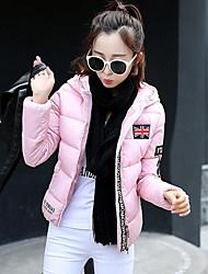 Cappotto Da donna Piumino Moda città Manica lunga Poliestere