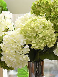 1 Bouquet Silk Hydrangeas Artificial Flowers Home Decoration Wedding Bouquet