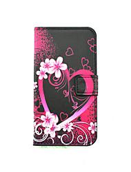 Pour Coque LG Porte Carte Avec Support Avec Ouverture Clapet Motif Coque Coque Intégrale Coque Cœur Dur Cuir PU pour LG LG K10 LG K8