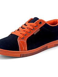 Masculino-Tênis-Conforto-Rasteiro-Azul / Vermelho / Laranja-Camurça-Casual / Para Esporte