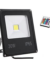 30w rgb ip65 de lumière de couleur a conduit la lumière d'inondation extérieure étanche projecteurs lampe murale (85-265V)