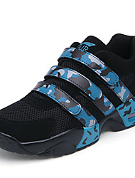 Men's Shoes Tulle Athletic Sneakers Athletic Sneaker Flat Heel Magic Tape Black / Blue / Red / White