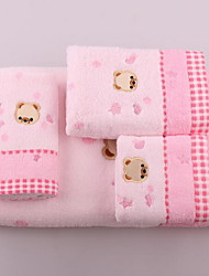 Jacquard Romance Bear Head With Thick Soft Water Bath Towel