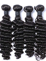 "4pcs/Lot 8""-30"" Malaysian Virgin Hair Color #1B Deep Wave Human Hair Weaves Bundles Low Price Sale."