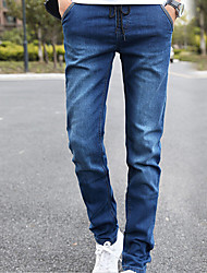 Men's Solid Casual Jeans,Cotton Blue / Gray