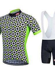 Fastcute Cycling Jersey with Bib Shorts Men's Women's Kid's Unisex Short Sleeves Bike Bib Shorts Sweatshirt Jersey Bib Tights Quick Dry