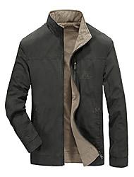 Men's Long Sleeve Casual / Work / Formal Jacket,Cotton Solid Blue / Green / Beige