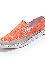 Femme-Décontracté-Gris Orange-Talon Plat-Confort-Baskets-Toile
