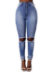 Legging Effiloché Coton Femme