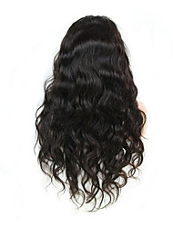 evawigs onda do corpo 10-26 polegadas frente perucas 100% laço do cabelo humano perucas cor natural densidade de preto 130%