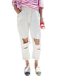 Pantaloni Da donna Jeans Semplice Cotone Anelastico