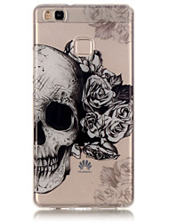TPU Material + IMD Technology Skull Pattern Painted Relief Phone Case for Huawei P9 Lite/P9/P8 Lite