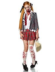 Costumes Zombie / Vampires Halloween / Carnival / Red / White Vintage Coat / Blouse / Skirt / Gloves / Socks / Tie