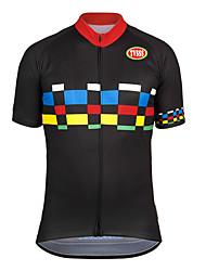 Sports Bike/Cycling Tops Men's Short Sleeve Breathable / Front Zipper / Wearable / Terylene / CoolmaxClassic