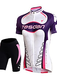 TASDAN® Cycling Jersey with Shorts Women's Short Sleeve Breathable / Quick Dry / Reflective Strips / Back Pocket / Sweat-wicking / 3D Pad