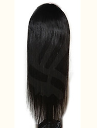 Brazilian Virgin Hair Straigt Full Lace Wig With Bangs Glueless Full Lace Human Wigs Full Bangs Silky Straight Wig