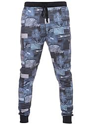 Women's Print Gray Chinos / Sweatpants / Skinny Pants,Active Fall / Winter