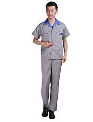 el seguro de trabajo guardapolvos vestido de verano que absorbe un mono del algodón del juego (la venta de arroz traje gris de cuello
