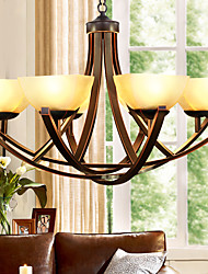 Chandelier ,  Traditional/Classic Painting Feature for Mini Style Metal Living Room Bedroom Dining Room