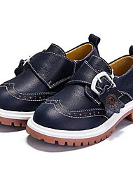 Girls' Shoes Outdoor / Athletic/Casual Nappa Leather Oxfords Spring/Summer / Fall/Winter Comfort Flat Heel Blue / Brown