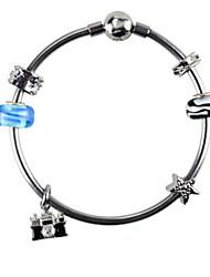 Strand Bracelets 1pc,Black / Pink Bracelet Fashionable Circle 514 Alloy Jewellery